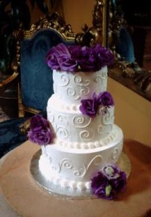 Cake flowers wedding