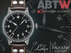Our September giveaway is now live!  This month we're giving away a Laco Münster Automatic.  Comment here to win: www.ablogtowatch.com/watch-giveaway-laco-munster-automatic/