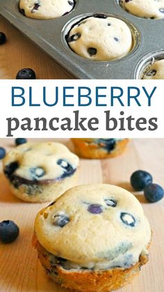 pancake muffins These easy blueberry pancake bites are such an easy way to make breakfast. Thy this blueberry pancakes in a muffin tin recipe and make the mornings go a little smoother. Pancake Bites, Pancake Muffins, Blueberry Pancakes, Pancakes Easy, Blueberry Breakfast, Berry Muffins, Easter Recipes, Appetizer Recipes, Dessert Recipes