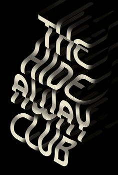 We're loving these mind-bending typographic illustrations created by UK-based studio Made Up. More typography inspiration via Behance Grid Design, E Design, Layout Design, Typography Inspiration, Design Inspiration, Daily Inspiration, Mobiles, Restaurant Vintage, Creative Typography Design
