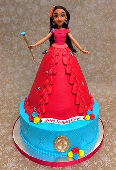 Elena of Avalor Doll Cake