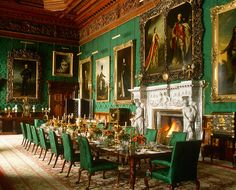 Alnwick Castle dining room has an ornately carved ceiling in Brunswick pine and . - Decor, English, Irish, Scottish - Alnwick Castle dining room has an ornately carved ceiling in Brunswick pine and the walls are cover - Alnwick Castle, Beautiful Castles, Beautiful Homes, Urban Deco, Interior And Exterior, Interior Design, Room Interior, English Castles, English Manor