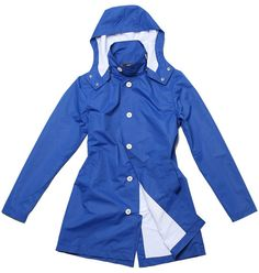 Mens Waterproof  RainCoat in Ocean Blue by Sunday by YourRain, $135.00
