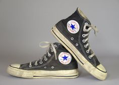 f7f3143c608d 80s Converse Made In USA Black Chuck Taylor High Top Converse Allstars