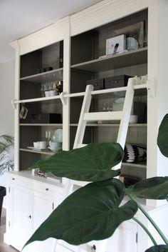 Boekenkast Landelijk Massief Hout White - Inndoors Meubelen en Interieur