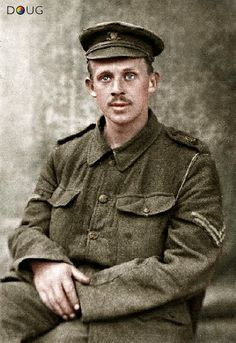 A 26 year old British 'Tommie' who not long after this was taken, died at 'High Wood' the Somme, 15/9/16.