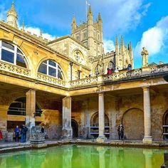 The Roman Baths, Bath, England. Photo courtesy of brianthio on Instagram. More Photos Courtesi #Travel #Vacation #Photography #BestVacations