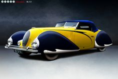 Talbot-Lago T-150 C LS Cabriolet Torpedo by Figoni et Falaschi, 1938