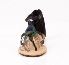 #Cute #Peacock #Feather #Summer #Sandals
