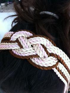 Diademas de cordones de seda