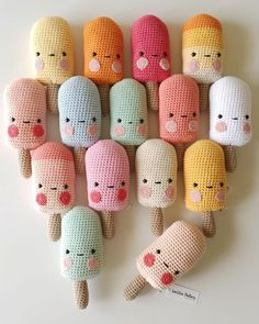 http://laetitiadalbies.tictail.com Des glaces samedi à Montpellier  #crochet #amigurumi #glaces #icecream #handmade