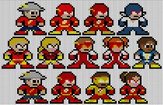 DC Hero Speedsters Perler Bead Groups