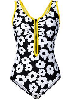 Badeanzug schwarz/weiß - bpc bonprix collection jetzt im Online Shop von bonprix.de ab ? 29,99 bestellen. Hoher Tragekomfort durch Lycra.…