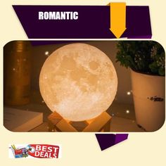 MoonLight is Always Associated With Romance  & Mystique. Get This 3D Printed Moonlight Lamp and Brighten Your Life With Romance & Mystery. Now On SALE!