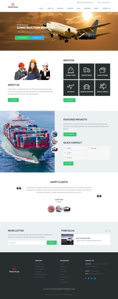 Truck Plus is a customized and responsive standard Wordpress Theme well structured and beautiful #WPtheme which is specifically designed for #Transportation and #Logistics Service.