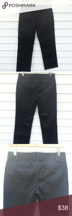 🎉HOST PICK🎉J.Crew Slim Cropped Pants Never Worn and in New Condition. These black pants have a slight sheen to them which is hard to capture in pictures. Slightly lower rise. Faux back pockets, so there is no added bulk on your booty ! Cropped ankle length. Good stretch,  95% Cotton. 5% Spandex. FIRST PHOTO IS ONLY TO SHOW THE FIT. Front Pockets on mine are slightly different ! Measurements laying flat, Waist. 14 in. Front Rise. 8 in. Inseam 26 in. Leg Opening. 7 in. J. Crew Pants Ankle…