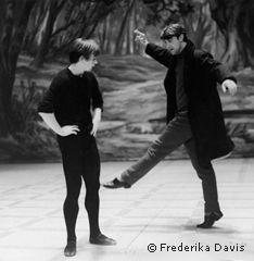 Nureyev and MacMillan rehearsing la Sylphide,1963. Photo: Frederika Davis
