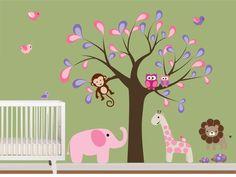 Vinyl Wall Decals  Safari Wall Stickers with by NurseryWallArt, $99.99