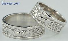 Claddagh wedding band women's | Irish Wedding Ring Band Sets