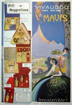 Vintage Art Deco Mavis Perfume ad  print Gorgeous by MyPaperedPast, $12.50