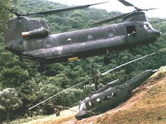 If I remember correctly, that is one of the 213th's aircraft doing this in Korea in the mid-1980s.