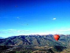 American Widow Project, Park City, Utah....hot air ballooning. That's the balloon I was in....Gold Star.