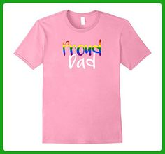 Mens Proud Dad Rainbow LGBT For Proud Gay Lesbian T-Shirt Medium Pink - Relatives and family shirts (*Amazon Partner-Link)