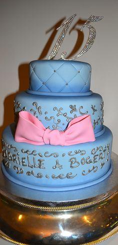 sweet 15 fondant cake