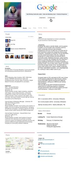Google+ (Themed) Resume #visualresume