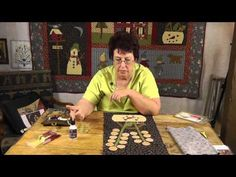▶ Applique With Jan Patek- Inside Curves, Berries, & Holly Leaves - YouTube