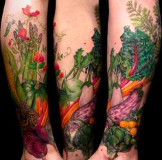 I can't imagine doing this personally, but this is definitely the prettiest/coolest veggie tattoo I've ever seen.