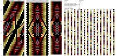 . Loom Patterns, Crochet Patterns, Tapestry Crochet, Brick Stitch, Bead Crochet, Beading Tutorials, Bracelets, Beaded Jewelry, Beads Tutorial