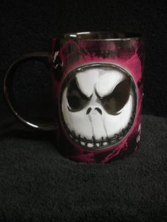 "$19.95 Disney's Nightmare Before Christmas Jack Skellington 16oz Ceramic Mug ""I'm a Real Nightmare""  From Jerry Leigh   Get it here: http://astore.amazon.com/ffiilliipp-20/detail/B009MPF1R6/179-3438190-5321724"