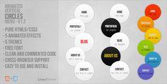 CSS - Animated Vertical Circles Menu | CodeCanyon