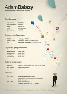 Creative Resume Inspiration: Adam Balazy - still clear a d professional, but like the touch of illustration...
