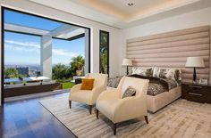 Master Bedroom | Guest Room | Outdoor Patio | Contemporary Home | Beyonce Jay Z | Beverly Hills | Contemporary Home | Real Estate