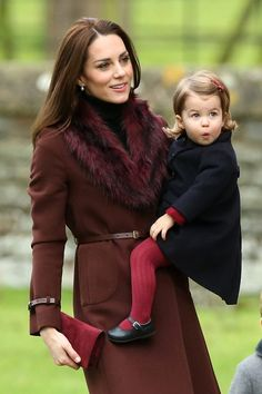 Our hearts! Kate Middleton and Princess Charlotte coordinated on Christmas and it's too cute to handle.
