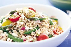 Farro Salad with Peas, Asparagus, and Feta