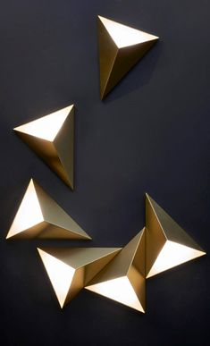 Tetra Wall Light By Cvl Luminaires Tetra Wall Sb - By Itself Or In An Arrangement The Tetra Wall Light Can Shape Your Own Creation With Light Available In Satin Or Polished Brass Copper Graphite Or Nickel Note Only Single Installed Lights Are U Art Deco Wall Lights, Art Deco Lighting, Lighting Design, Wall Lighting, Brass Wall Lights, Art Deco Wall Art, Lighting Ideas, Ceiling Design, Lamp Design