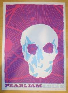 2003 Pearl Jam - Dallas Silkscreen Concert Poster by Ames
