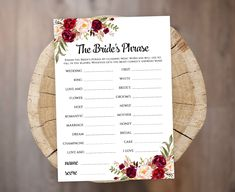 Finish the Brides Phrase game template Printable floral Bridal Shower games PDF JPEG Instant downloa Printable Bridal Shower Games, Bridal Shower Signs, Marsala, Tea Party Activities, Digital Word, Price Is Right Games, Be My Bridesmaid Cards, Wedding Templates, As You Like