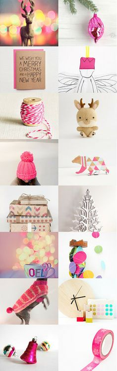 Colorful Christmas by Stacy on Etsy--Pinned with TreasuryPin.com