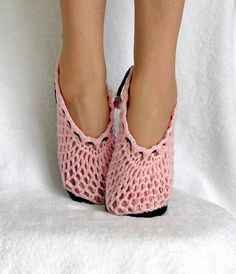 Slippers Crochet Pattern Ballet Kids and Women 2 by Genevive
