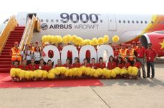 Airbus has celebrated the delivery of its 9000th aircraft at a ceremony in Hamburg, Germany on 20th March 2015. The aircraft is the first A321 to be delivered to Vietnamese carrier VietJetAir and will join the carrier's all-Airbus A320 Family fleet flying on its fast-growing Asia-Pacific network (c) Airbus