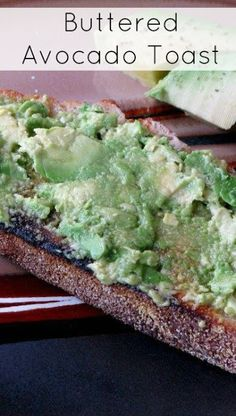 This toast is a hearty, easy and delicious breakfast or snack idea! Try sourdough bread! Buttered Avocado Toast Recipe from Hot…
