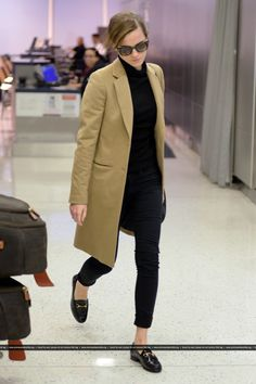 Emma Watson arriving at JFK Airport to catch a flight out of New York City on January, 21
