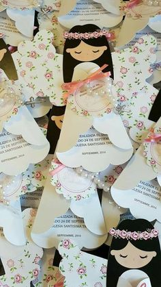 See all these amazing ideas for first communion, which you can use for boy and girl, cake proposals, invitations and more . First Communion Party, First Holy Communion, Indian Birthday Parties, Diy And Crafts, Paper Crafts, Angel Crafts, Holidays And Events, Christening, Cardmaking