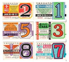 anampersand:    I adore these bus tickets from the 1940s. O, how I wish tickets looked like this today! It's on my list of Graphic Design Missions.  via www.monster-munch.com    Wow! These are so amazing.