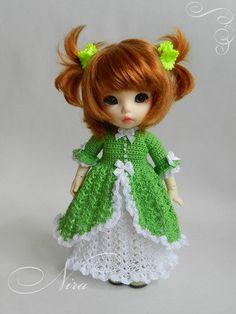 Crochet dress and under skirt for puki fee.
