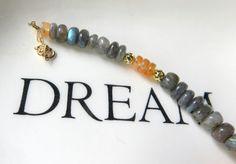 Modern Labradorite and Carnelian Bracelet  by JemsbyJBandCompany #jewelryonetsy #JetJOD